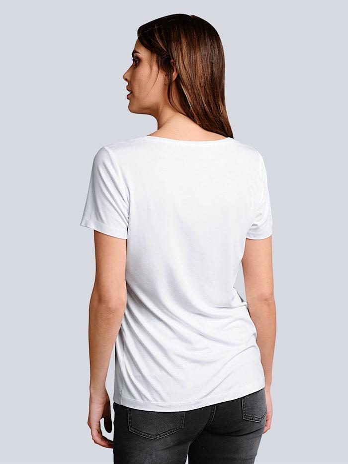 Shirt mit modischem Druck im Vorderteil