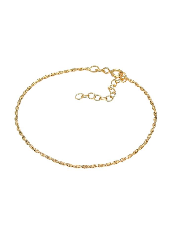 Armband Gedreht Kordel Twist 925 Silber