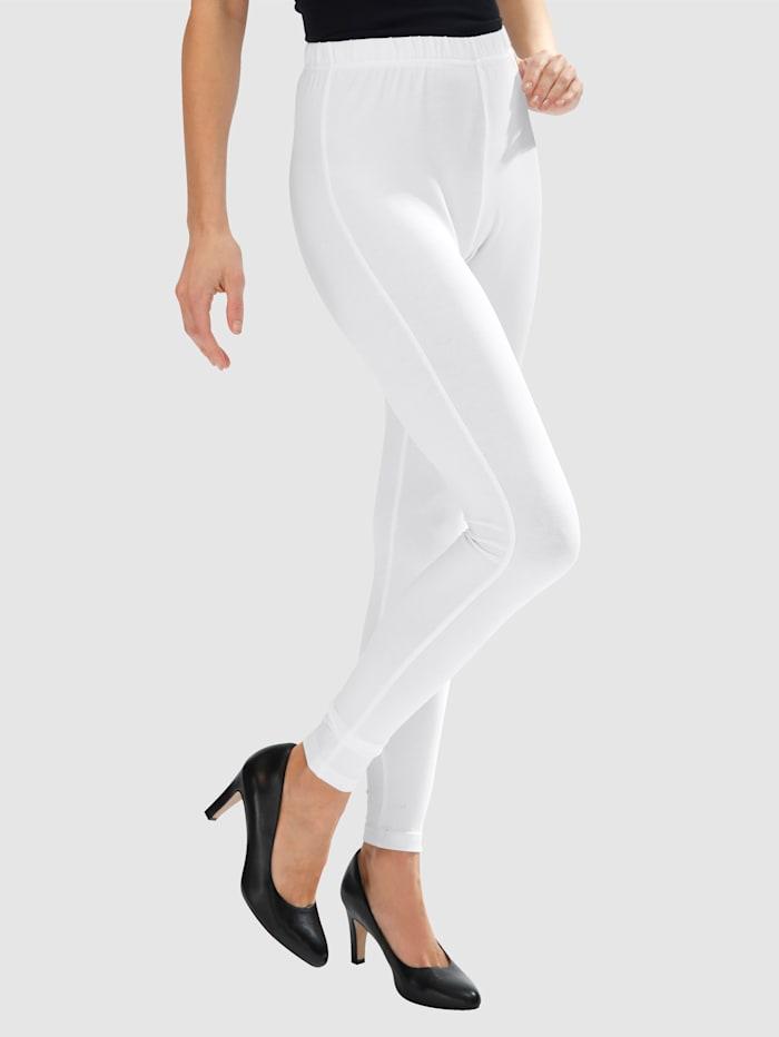 MIAMODA Legging en coton mélangé, Blanc