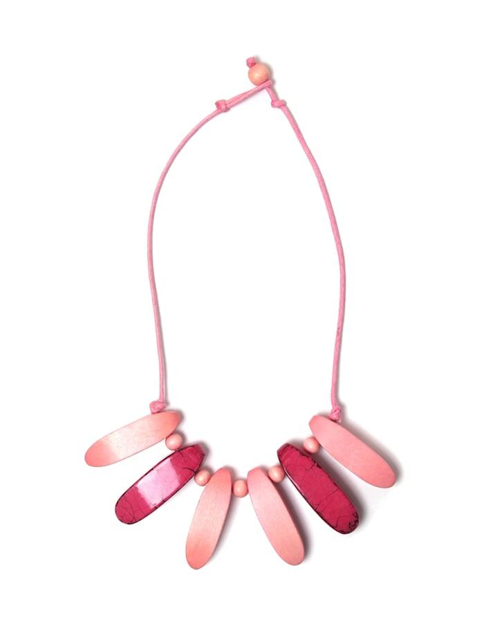 Collezione Alessandro Kurze Kette Christa mit Anhängern, rosa