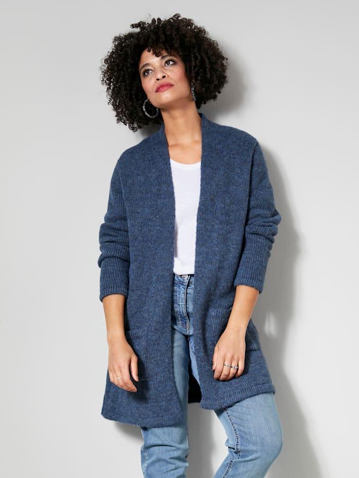 Angel of Style Strickjacke mit Stern auf dem Rücken, Jeansblau