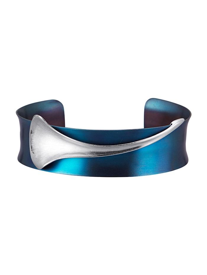 Amara Tendance Bracelet en argent 925 et titane, Bleu
