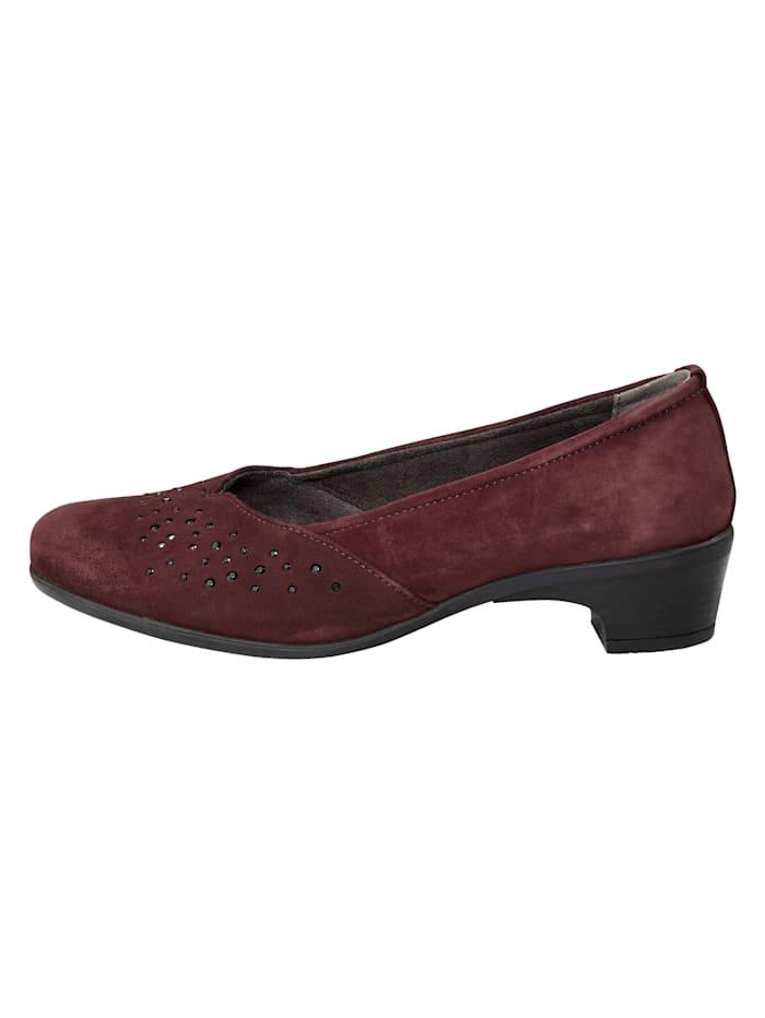 Court shoes with subtle rhinestones
