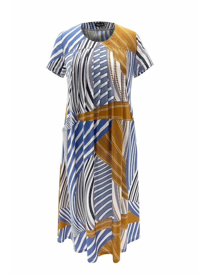 Wisell Maxikleid Maxikleid mit Alloverprint, blau