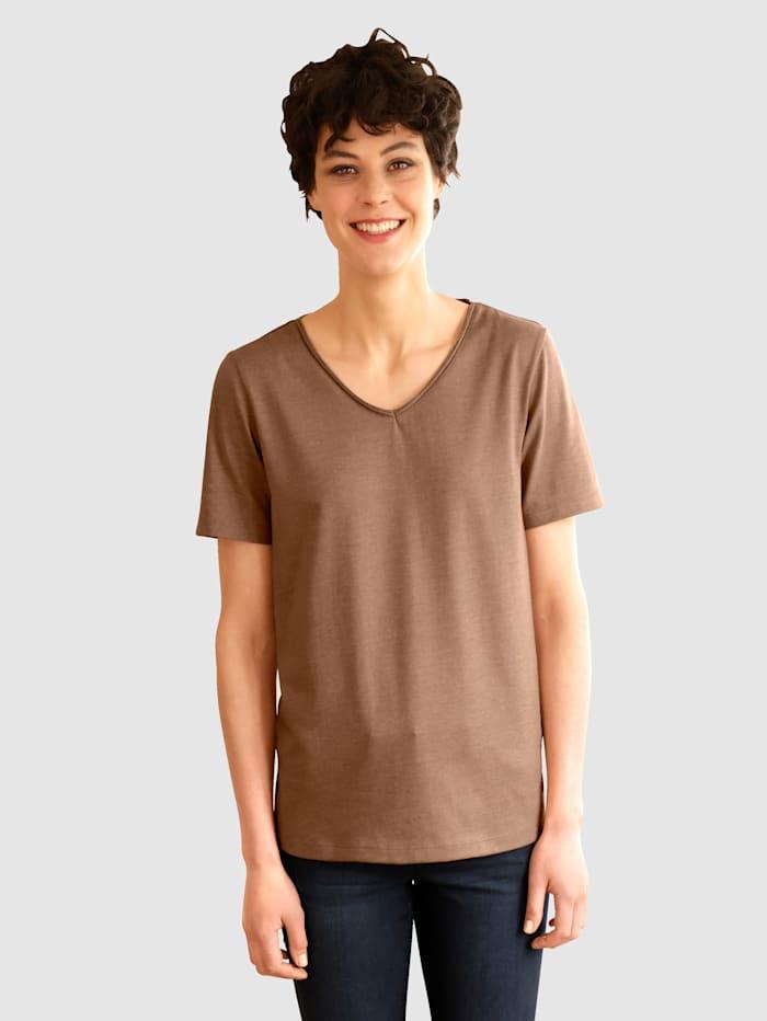 Dress In Shirt in tollen Farben, Braun