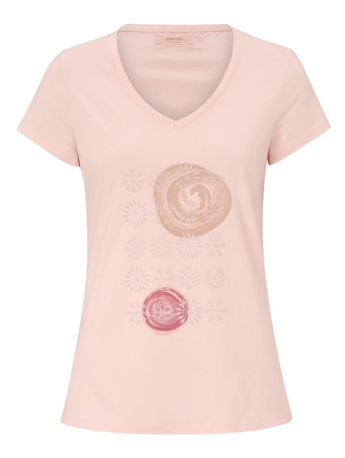 SIENNA Shirt mit Print, Rosé