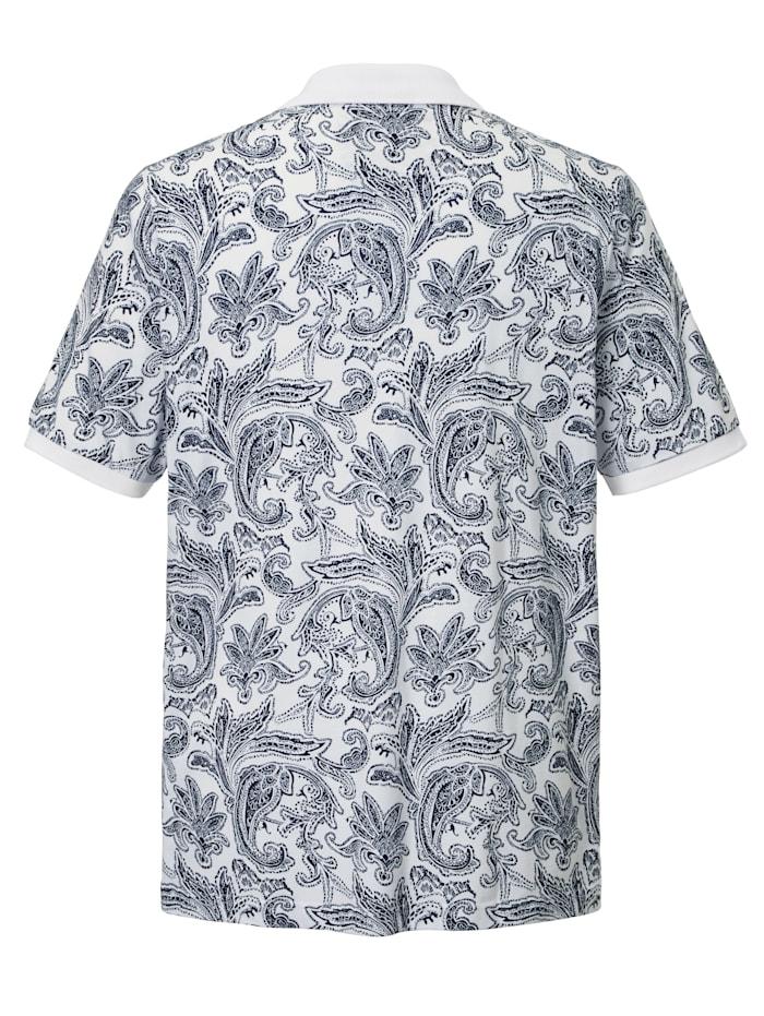 Poloshirt met trendy paisleydessin