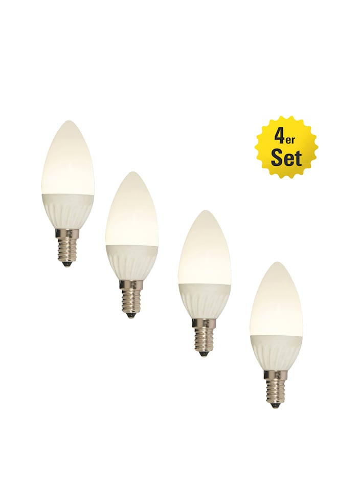 Näve 4er Set LED-Leuchmittel E14/4W, warmweiß