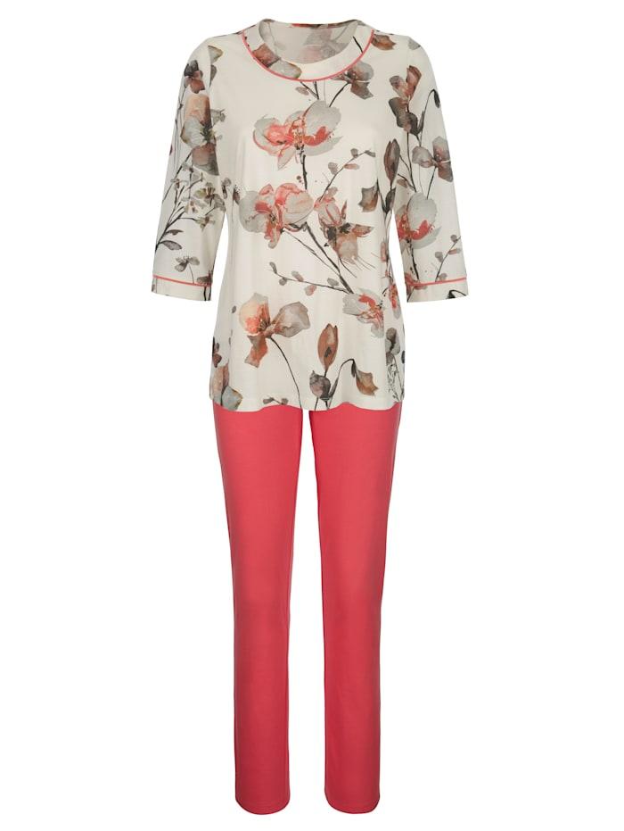 Pyjama's per 2 stuks met digitale bloemenprint