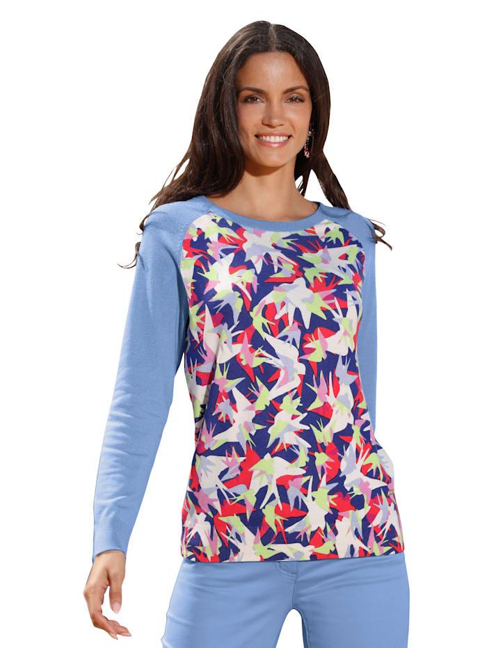 AMY VERMONT Pullover mit bedrucktem Vorder- und Rückteil, Multicolor