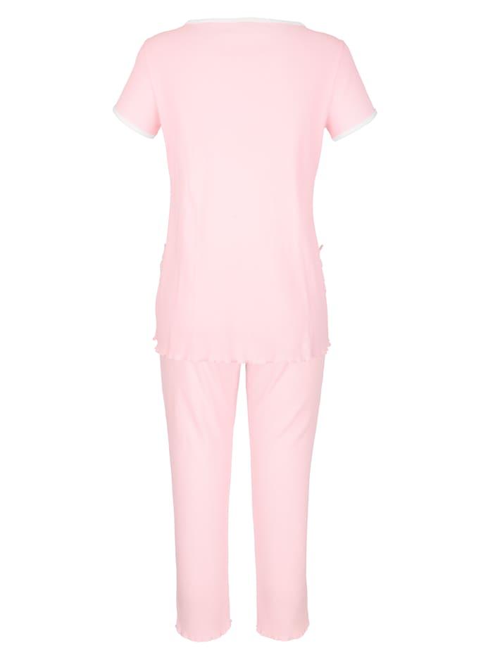 Pyjama van comfortabele geribde jersey