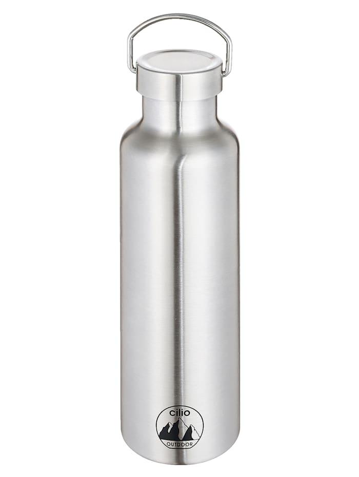 Cilio Isolert drikkeflaske -GRIGIO-, sølvfarget (stål)