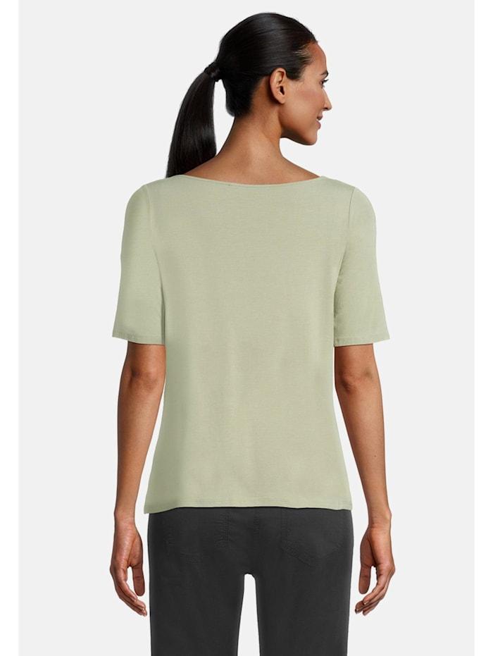 Basic Shirt mit Wasserfallausschnitt