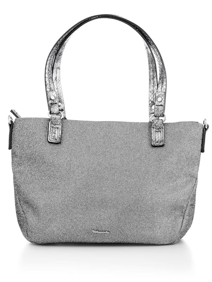 Tamaris Tasche als glitzerndes Accessoire, Silberfarben