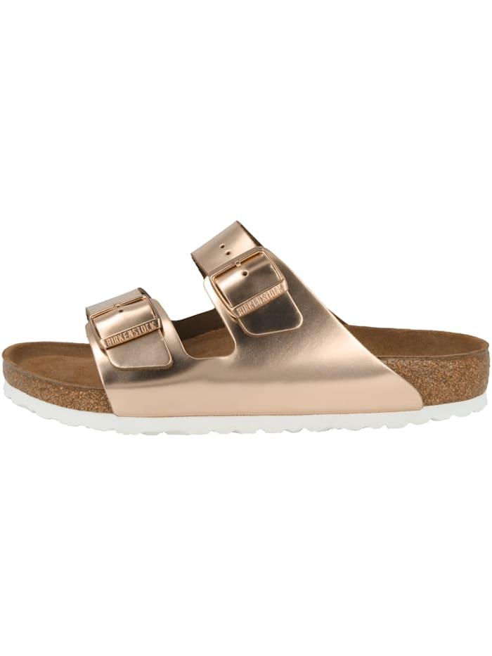 Birkenstock Sandale Arizona Glattleder Weichbettung normal, braun