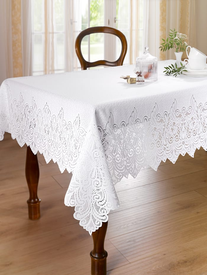 Webschatz Linge de table dentelle, blanc