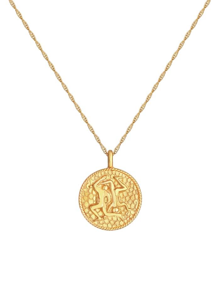 Halskette Sternzeichen Zwilling Münze 925 Silber