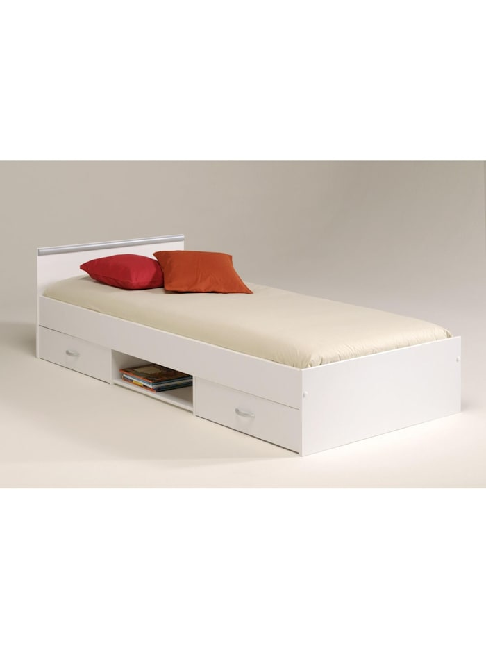 """Parisot Stauraum-Einzelbett """"MEGA 1"""" Weiß 90 x 200 cm, Weiß"""