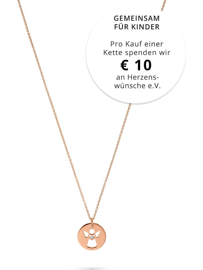 CHRIST C-Collection CHRIST Damen-Kette 925er Silber 1 Diamant, roségold