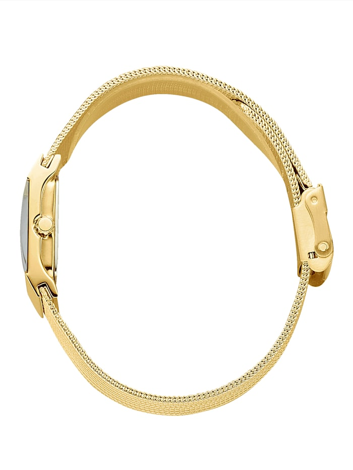 Elegant klocka i guldfärgat med diamant