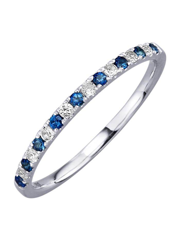 Damenring mit Saphiren mit Saphiren, Blau