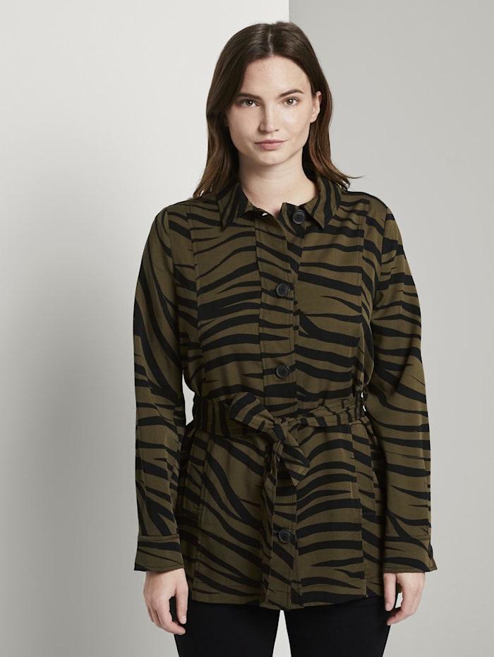 Tom Tailor mine to five Blazerjacke im Zebra-Muster, olive zebra design