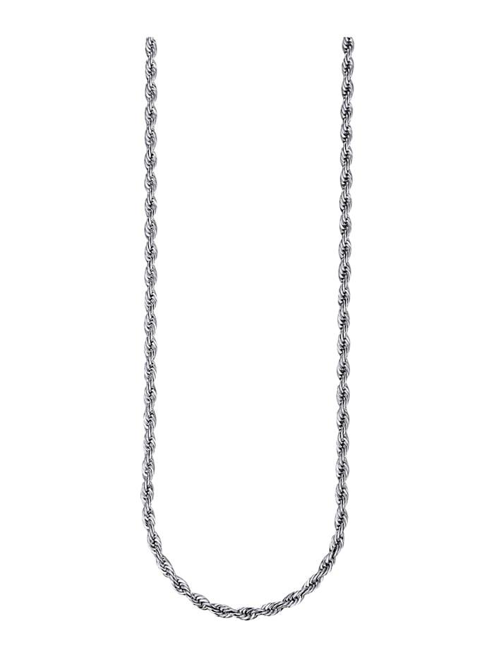 Magnetic Balance Kordelkette, Edelstahl, Silberfarben
