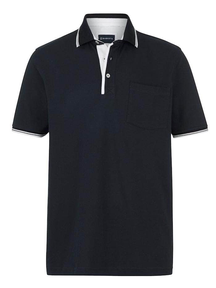 BABISTA Poloshirt met borstzak, Marine