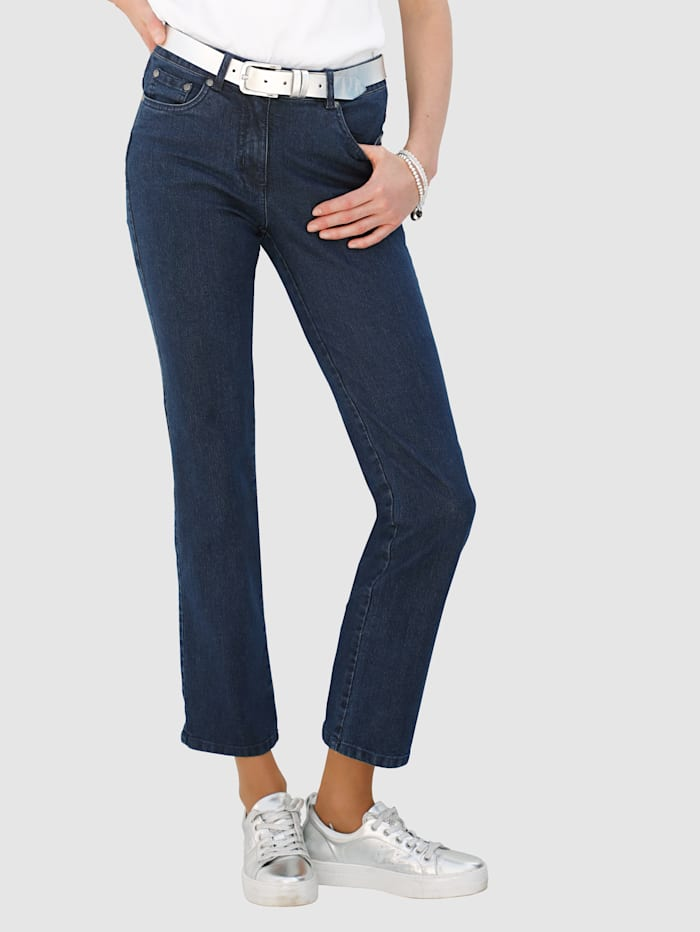 Dress In Jeans met strassteentjes op de achterzakken, Marine