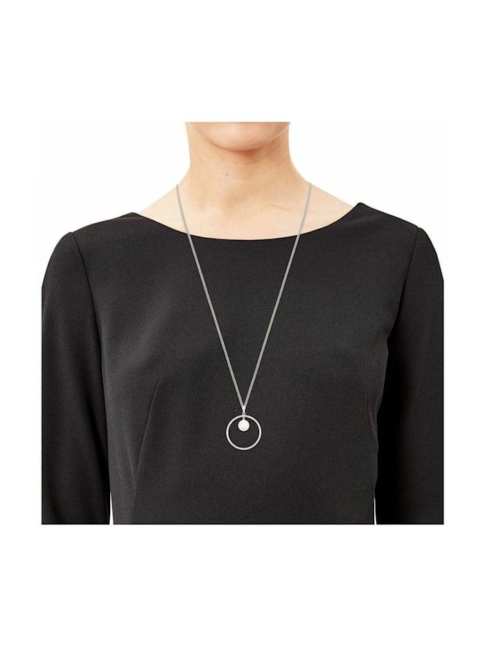 Kette mit Anhänger für Damen aus Echtsilber 925, längenverstellbar, mit Perle