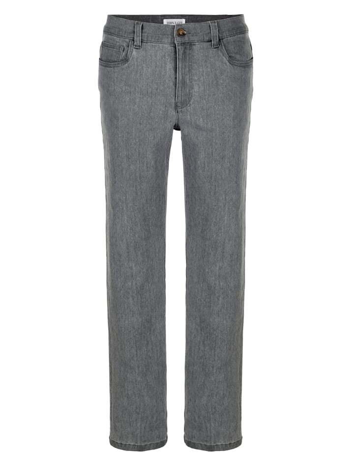 John F. Gee 5-Pocket Jeans in bequemer Passform, Grey