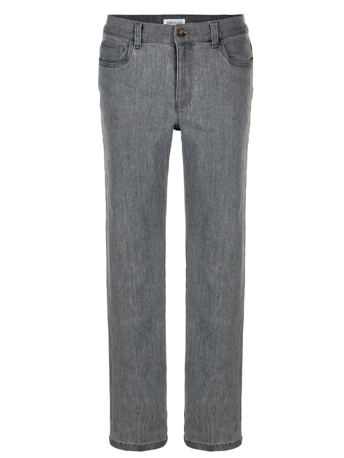 John F. Gee Jeans in een comfortabele pasvorm, Grey
