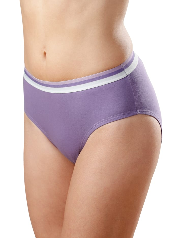 Raitavyötärölliset alushousut 4/pakkaus