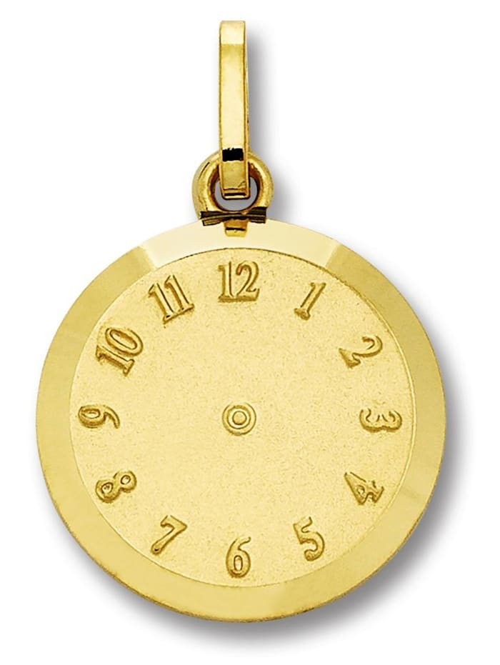 One Element Damen Schmuck Anhänger Geburtsuhr aus 333 Gelbgold, gold