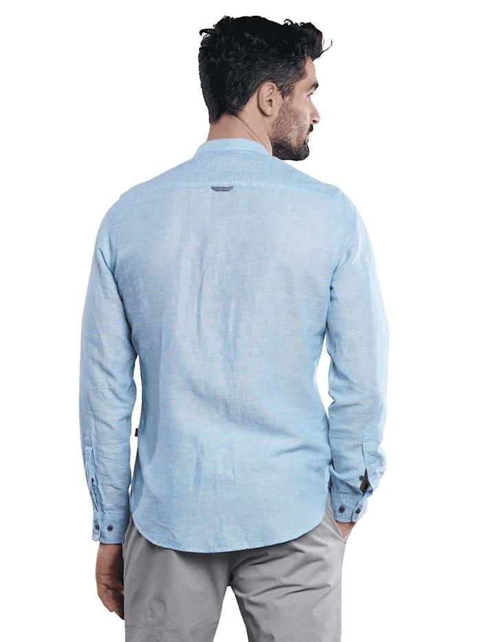 Langarm-Hemd aus Leinenmix