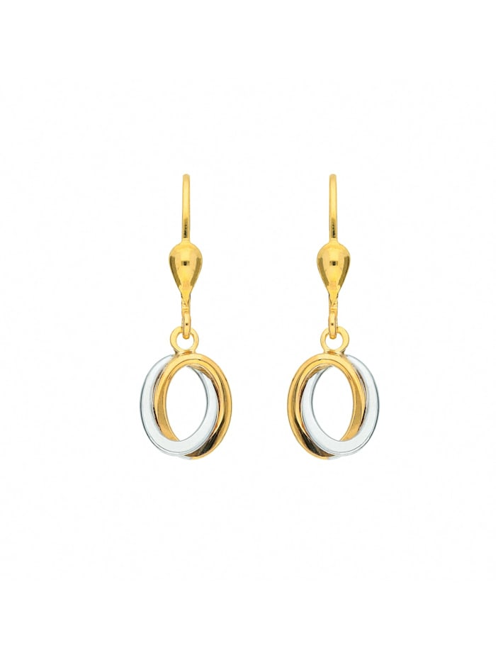 1001 Diamonds Damen Goldschmuck 333 Gold Ohrringe / Ohrhänger, gold