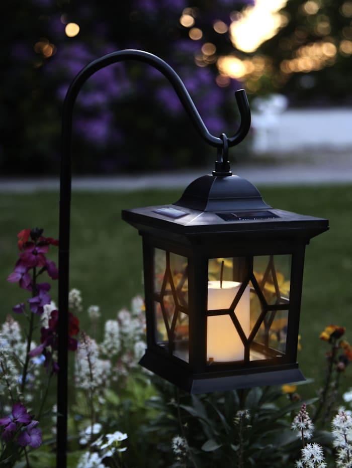 LED Solarleuchte m. Kerze