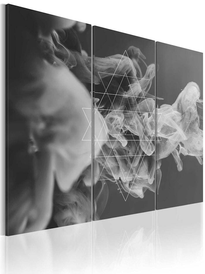 artgeist Wandbild Rauch und Symmetrie, schwarz-weiß