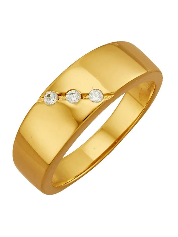 Golden Style Damenring vergoldet, Gelbgoldfarben