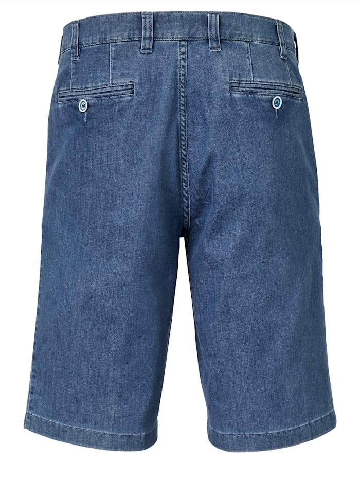 Reise-Jeansbermuda mit 7 cm mehr Bundweite