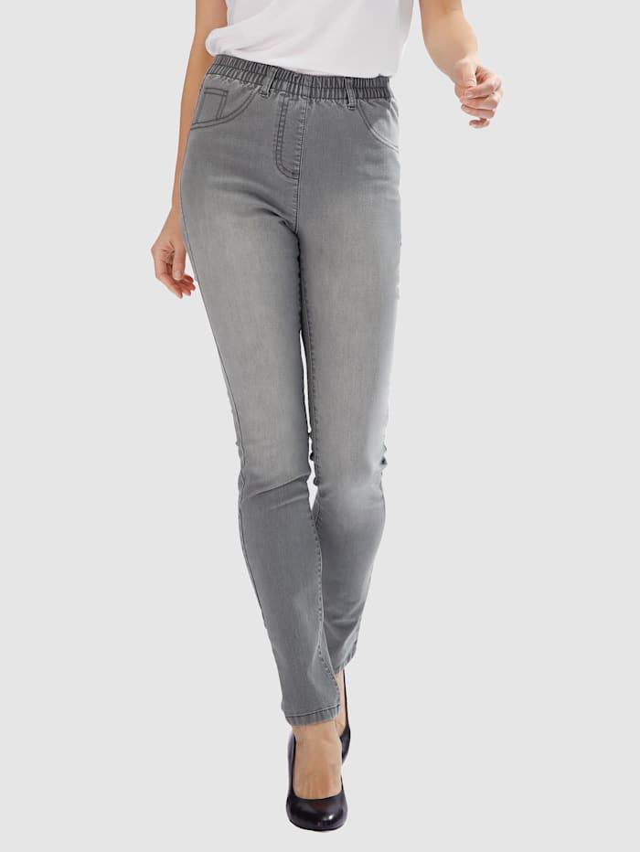 MIAMODA Jeggings mit praktischen Gürtelschlaufen, Grey