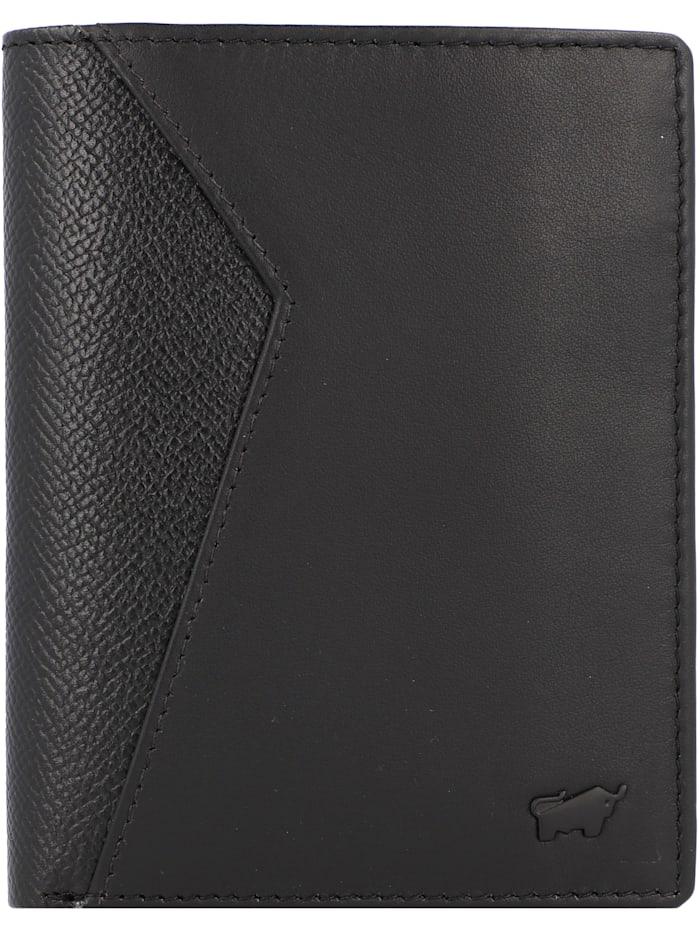 Braun Büffel Monza Geldbörse Leder 9.5 cm, schwarz