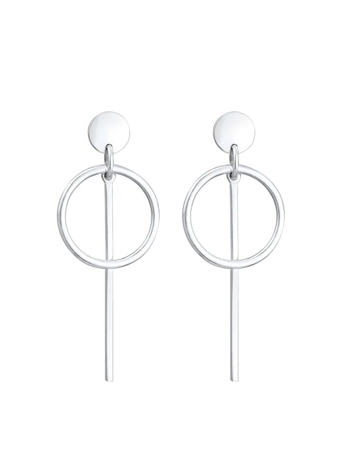 Ohrringe Hänger Geo Kreis Basic Minimal Cool 925 Silber