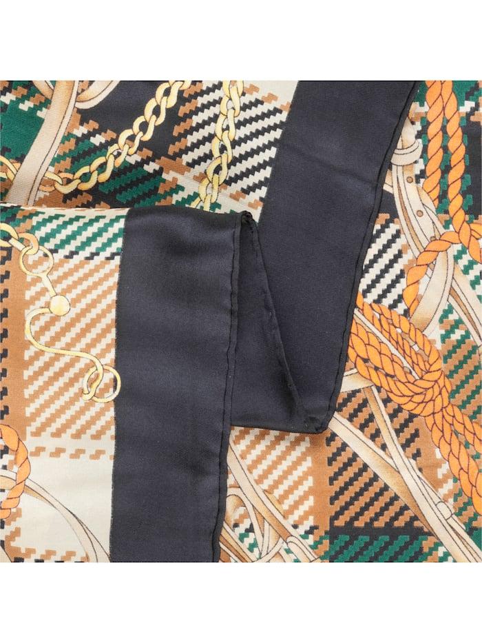 Großes Seidentuch mit elegantem Foulard-Muster