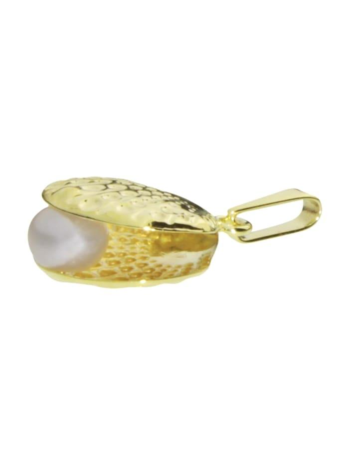 Anhänger - Muschel - Gold 333/000 - Zuchtperle