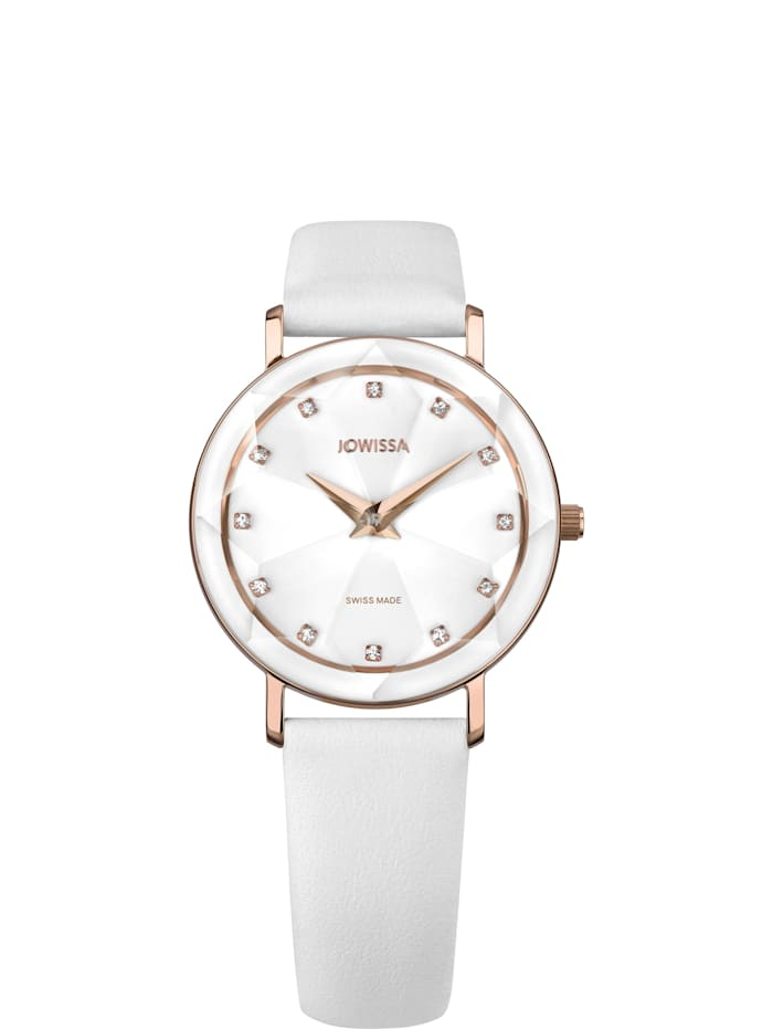 Jowissa Quarzuhr Facet Swiss Ladies Watch, weiß