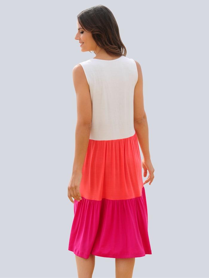 Strandkleid in Colour-Blocking-Optik