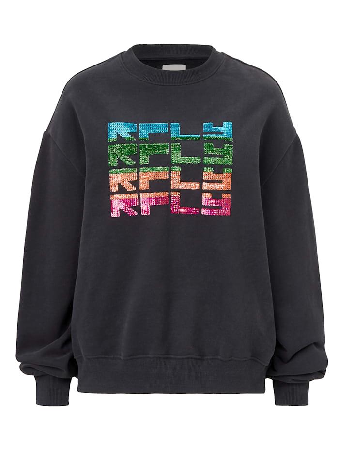 REPLAY Sweatshirt mit Pailletten, Dunkelblau