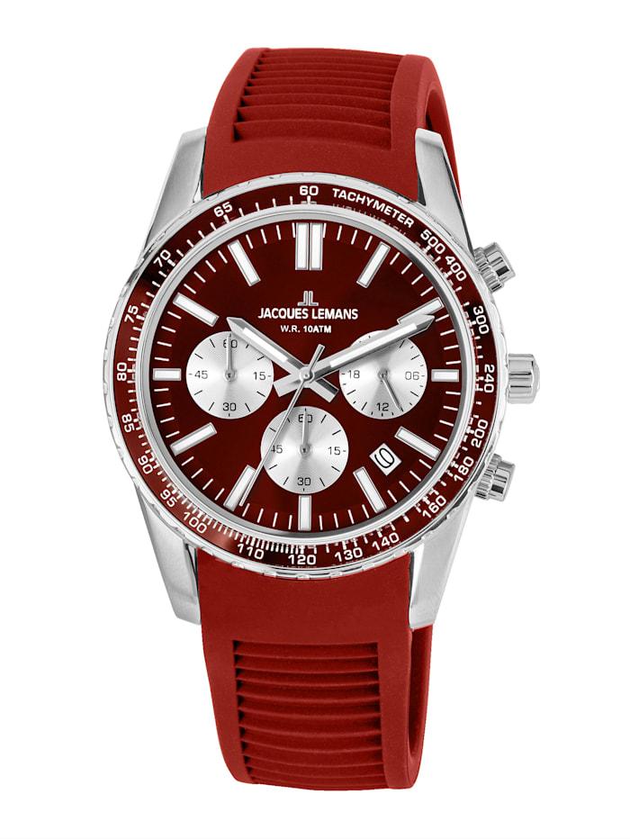 Jacques Lemans Unisex-Uhr Chronograph Serie: Liverpool, Kollektion: Sport 1-2059E, Rot