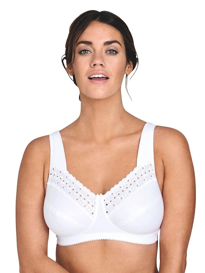 Miss Mary BH aus trageangenehmer Baumwoll-Qualität, Weiß